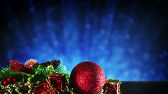 Christmas background with decoration and bokeh loopable Stock Footage