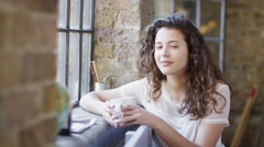 Portrait of beautiful young woman Stock Footage