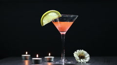 Add ice in a coctail Stock Footage