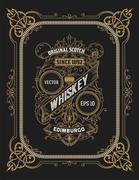 Vintage label for whiskey. You can apply this design for another products too Stock Illustration