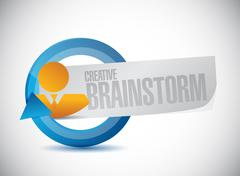 Creative Brainstorm businessman sign concept Stock Illustration