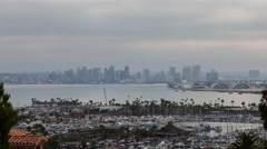 San Diego Night To Day Sunrise Timelapse Stock Footage