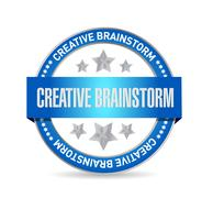 Creative Brainstorm seal sign concept Stock Illustration