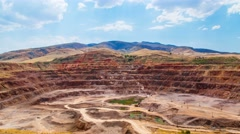4K Timelapse. Large mine iron ore. Stock Footage
