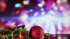 Christmas decorations and sparkler on background seamless loop Stock Footage
