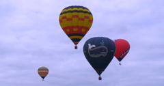 Hot air baloons flying Stock Footage