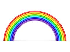 Rainbow. Side view. 3D Stock Illustration
