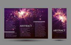 Design templates collection for banners, flyers, placards and posters. Bokeh Stock Illustration
