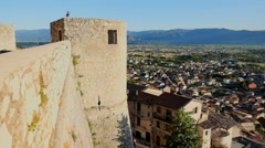 Celano castle in abruzzo italy Stock Footage