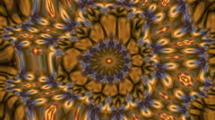 Wonderful abstract kaleidoscopic multicolor pattern with twisting structure Stock Footage