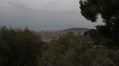 View of Barcelona from Park Guell Stock Footage