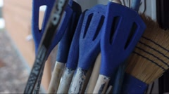 Broomball Equipment Stock Footage
