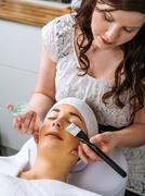Facial in the salon Stock Photos