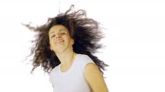 Wild hair dance! Stock Footage