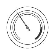 Pressure manometer icon Stock Illustration