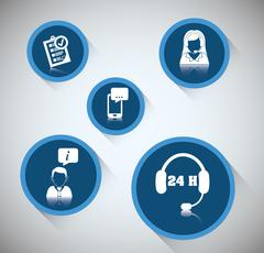 Customer service technical service icon set Stock Illustration