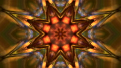 Abstract kaleidoscopic multicolor pattern with octonary complex structure Stock Footage
