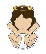 Baby jesus holy family design Stock Illustration