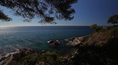 Lloret de mar sea views Stock Footage