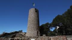 San Juan Castle in Lloret de mar Stock Footage
