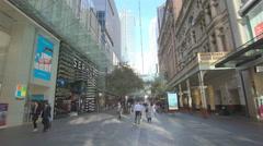 Shopping precinct in Sydney, Australia Stock Footage
