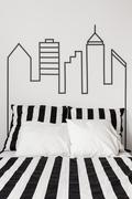 City centre in your apartment Stock Photos