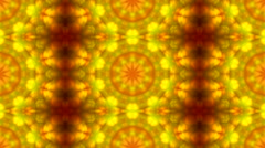 Wonderful abstract kaleidoscopic multicolor pattern with row detailed structure Stock Footage