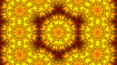 Wonderful abstract kaleidoscopic multicolor pattern with round structure Stock Footage