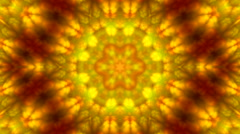 Wonderful abstract kaleidoscopic colored pattern with hexagon mosaic texture Stock Footage