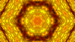 Kaleidoscope colored pattern with hexagonal structure and soft scaly texture. Stock Footage