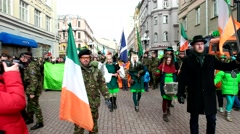 St. Patrick's day. Annually in Russia is Irish holiday Stock Footage