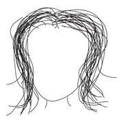 Doodle sketch of a hair style on white background Stock Illustration