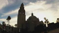 California Tower And Museum Of Man- Balboa Park- San Diego CA Stock Footage
