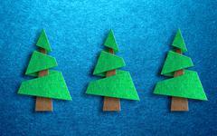 Seasonal greeting card design with pine trees Stock Illustration