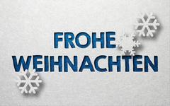 Seasonal greeting card with German writing Stock Illustration