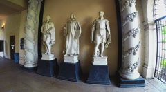 Famous Spanish Painters Statues- Balboa Park- San Diego California Stock Footage