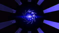 Abstract technology tunnel Stock Footage