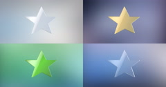 Star 3d Icon 4K Stock Footage
