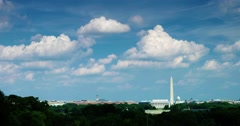 Washington DC Timelapse Wide Framed Wide Right with Clouds Stock Footage