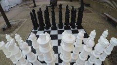 Giant Chess Board- Balboa Park- San Diego California Stock Footage