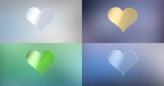 Like Heart 3d Icon 4K Stock Footage