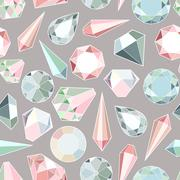 Diamonds and crystals Stock Illustration