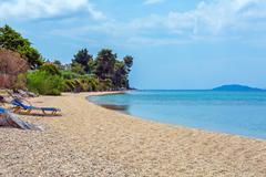 Sea view in Sithonia, Chalkidiki Stock Photos