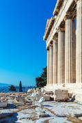 Antique Temple Parthenon, Acropolis, Athens Stock Photos
