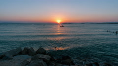 4K sunset seascape timelapse Greek island,summer. Stock Footage