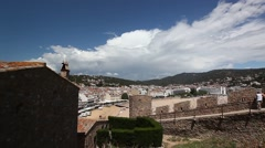View of Tossa de mar from castle Stock Footage