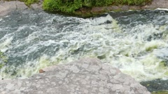 Rough and Rapid Stream of a Mountain River. the Texture of the Water. Stock Footage