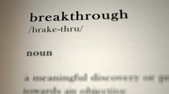 Breakthrough Definition Stock Footage