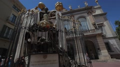 Dali Theatre and Museum Figueres Stock Footage