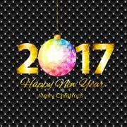 Abstract Beauty 2017 New Year Celebration Poster Background. Vec Stock Illustration